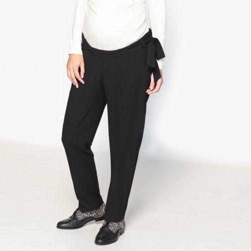 Παντελόνι εγκυμοσύνης σε ευθεία γραμμή ΜΑΥΡΟ ⋆ Ρούχα εγκυμοσύνης b234654e5cd